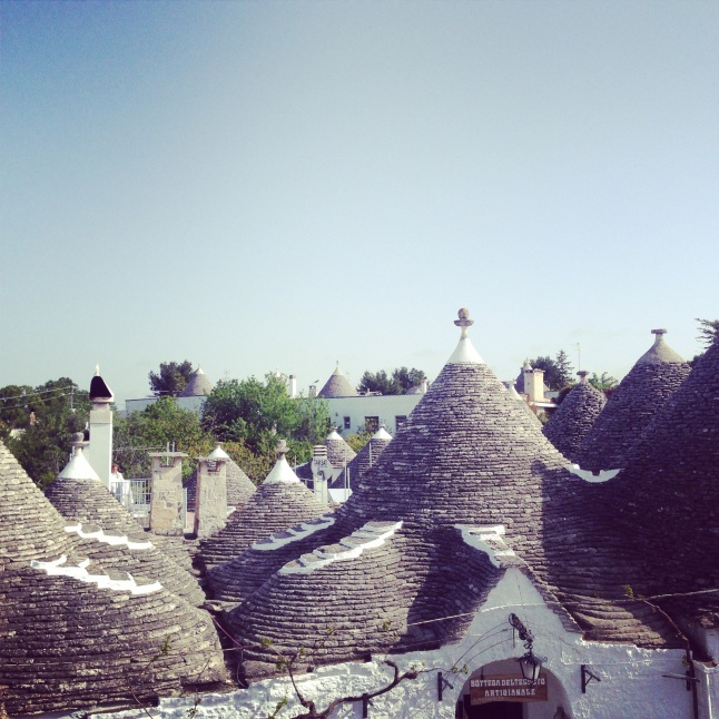 White cone roof houses , Trulli Alberobello