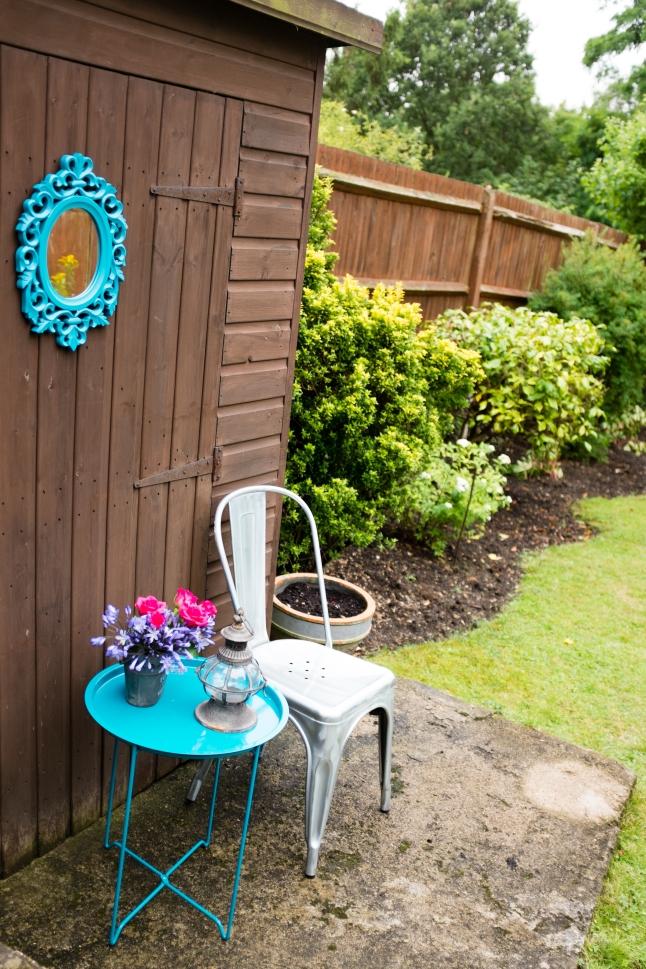 Rustic garden corner